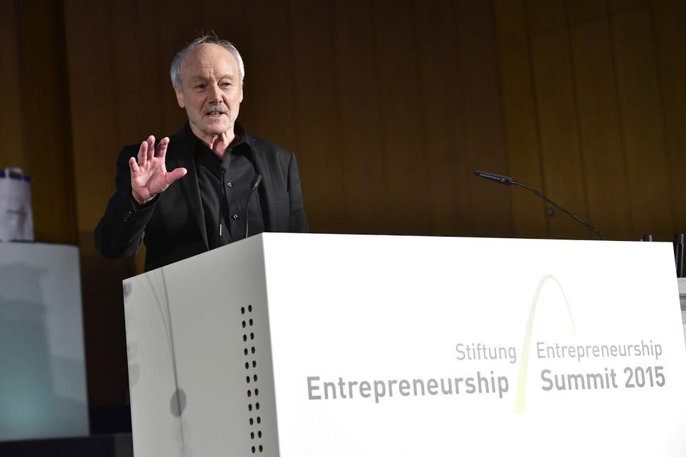 Keynotespeaker: Prof. Gunter Faltin. Foto: Kai-Uwe Knoth / Google Inc